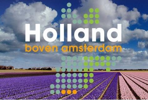 Holland boven Amsterdam