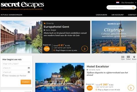 Escapes login secret Secret Escapes