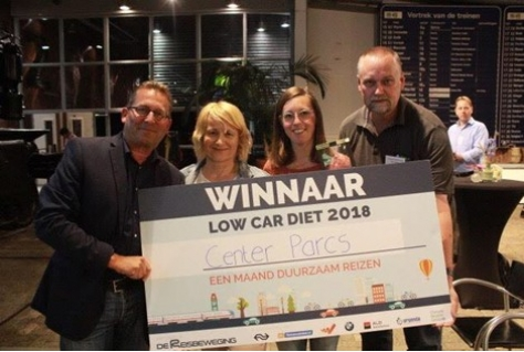 Center Parcs winnaar Low Car Diet 2018